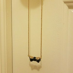 """Kate Spade """"Take a Bow"""" Necklace, Navy"""